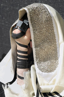 A Man wearing a Tallit